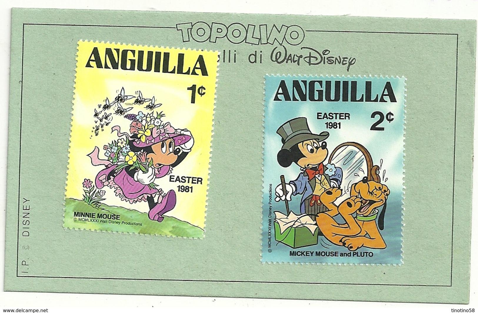 Anguilla   ANGUILLA  1981   TOPOLINO  MINNI  2  FRANCOBOLLI - Disney