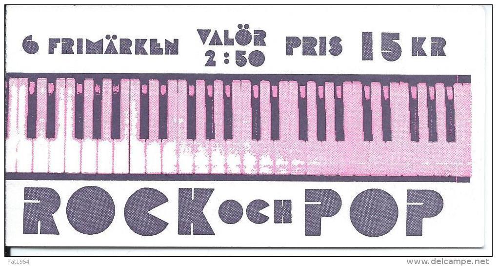 Suède 1991 Carnet C1667 Neuf Musique Pop Rock - Carnets