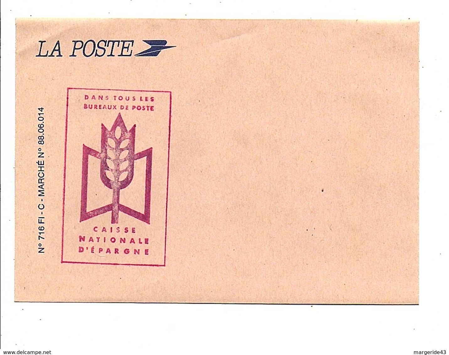 ENVELOPPE LA POSTE PUB CNE - Documents De La Poste