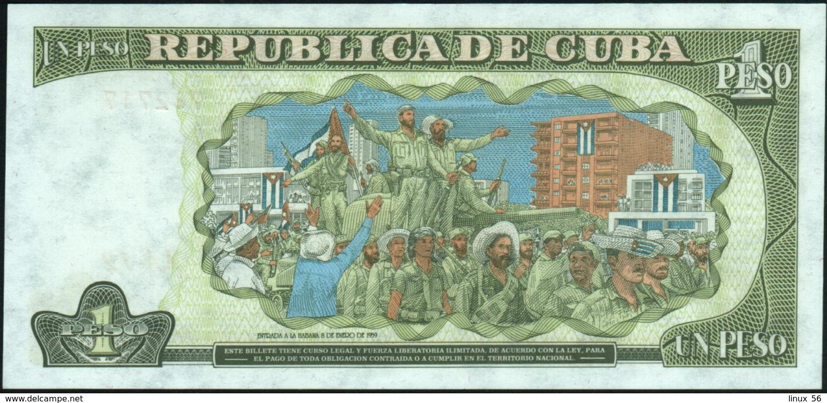CUBA - 1 Peso 1995 UNC P.112 - Cuba