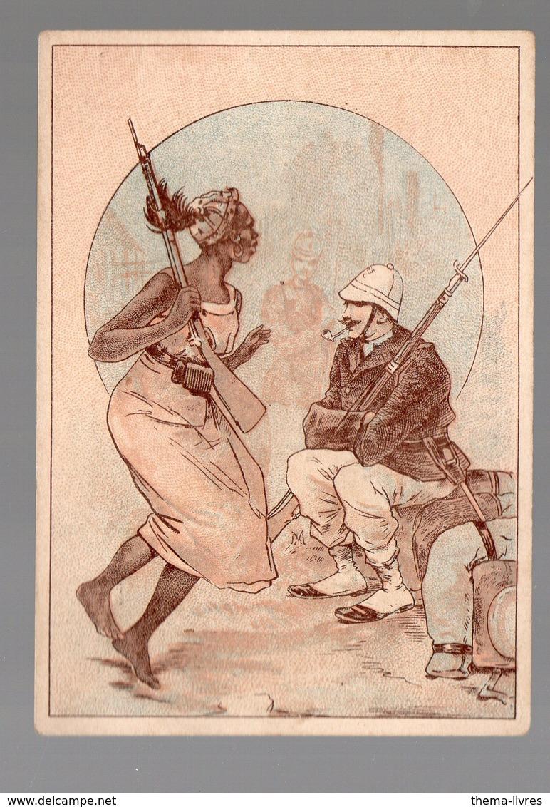 Corbeil / Afrique Noire)  Scène De La Vie Coloniale (offert Par F VICQ, Nouveautés, Corbeil ) (PPP17852) - Alte Papiere