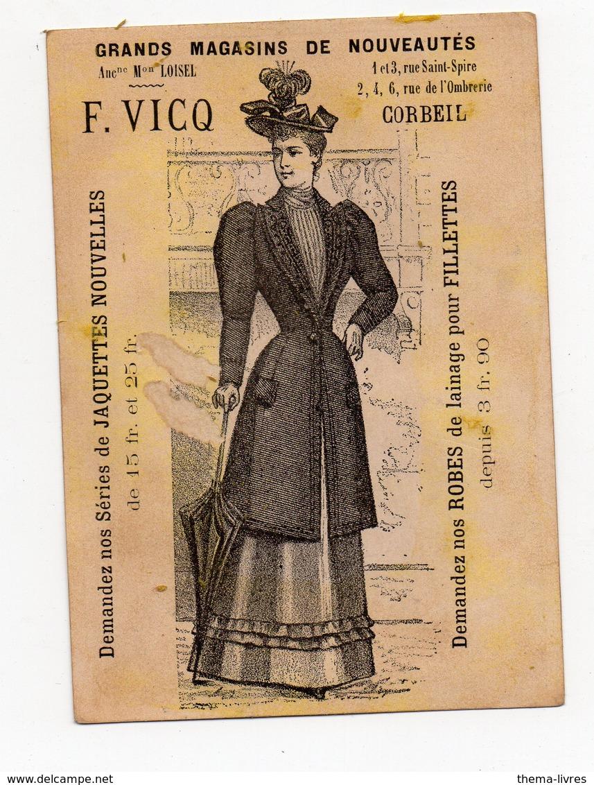 Corbeil / Afrique Noire)  Scène De La Vie Coloniale (offert Par F VICQ, Nouveautés, Corbeil ) (PPP17853) - Old Paper