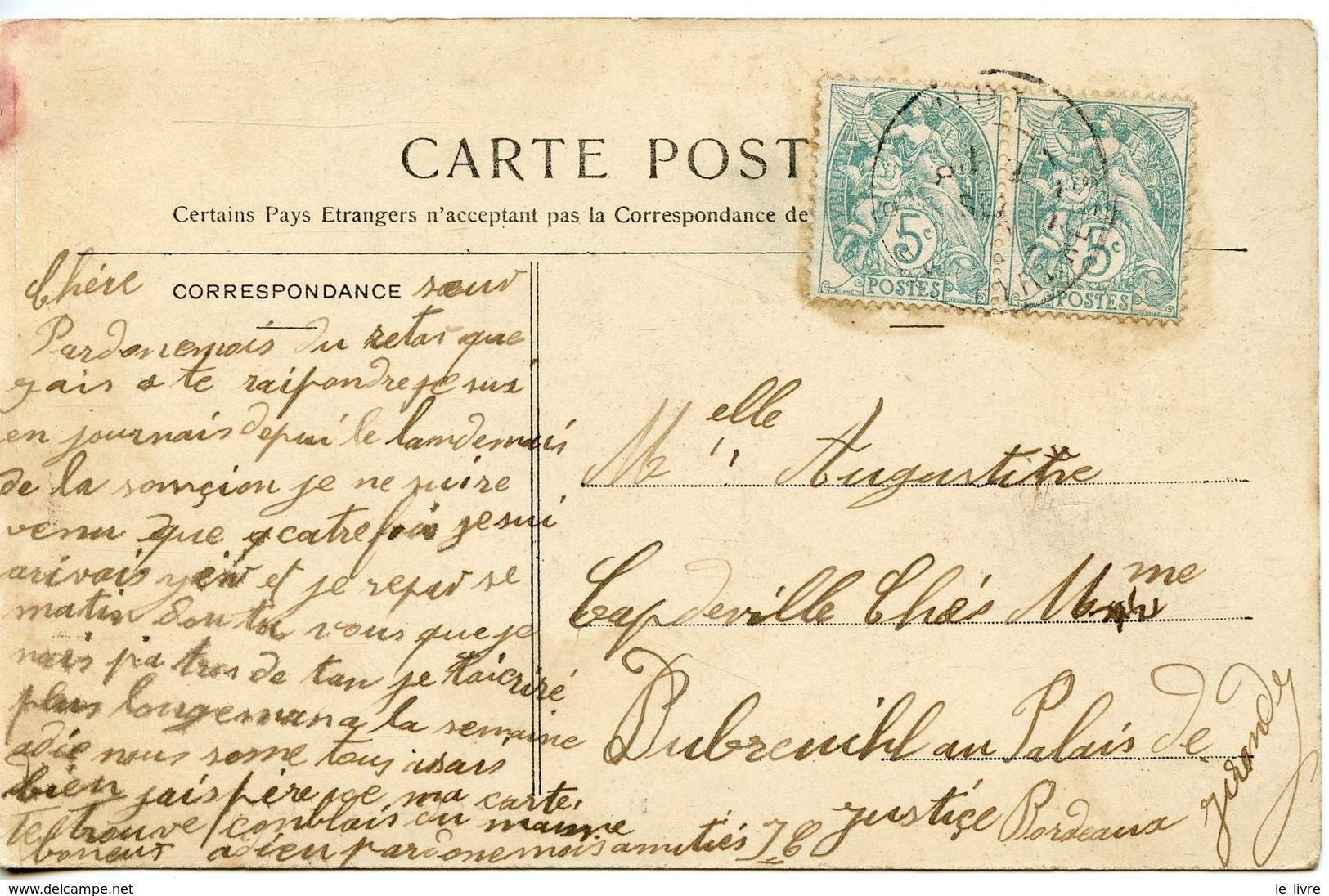 896. CPA 64 CARTE PRESQUE ENTIEREMENT DEDOUBLEE. BIARRITZ. GRANDE PLAGE. LES ANES EN LOCATION - Biarritz