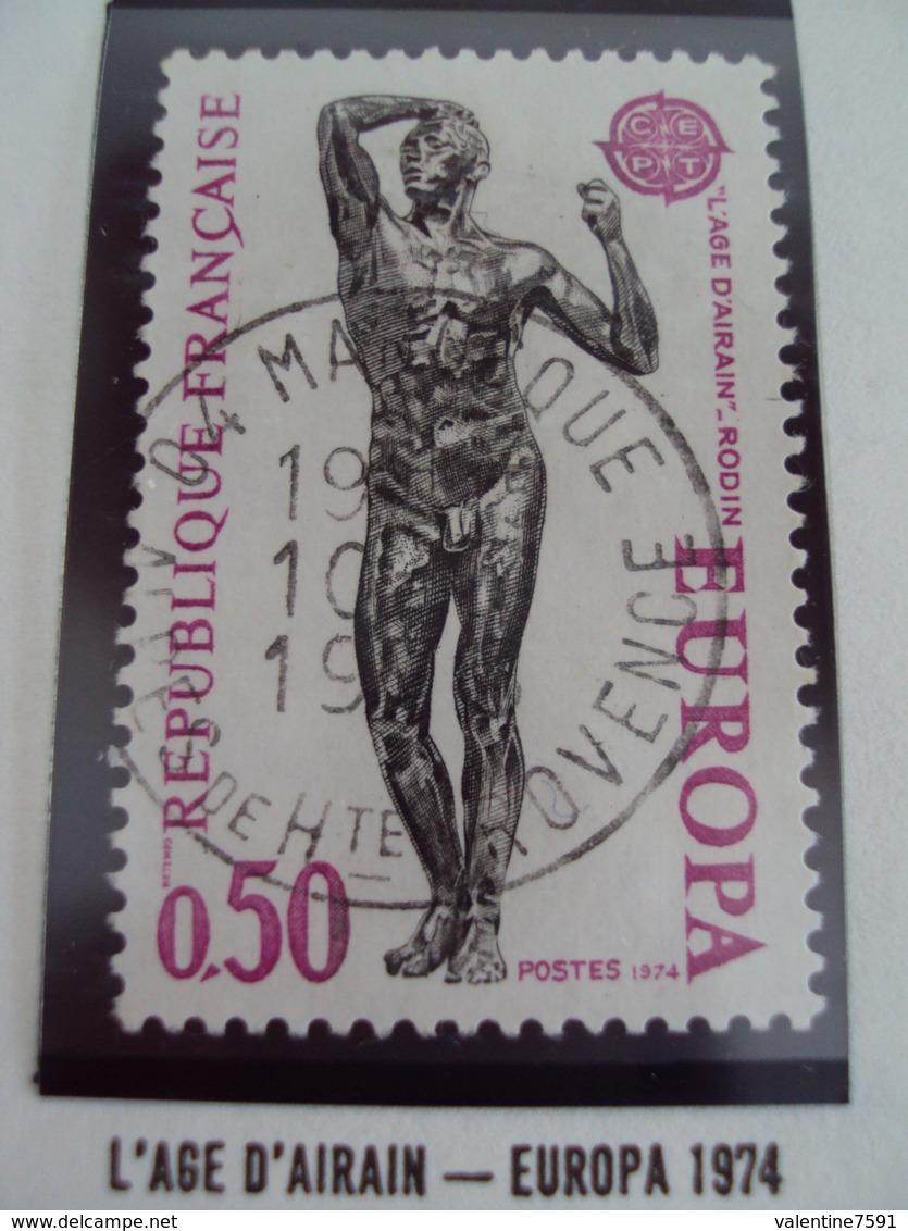 "70-79- Timbre Oblitéré N°  1789    ""   L Age D'airan, Europa 1974- 0.50f     ""       0.20 - France"