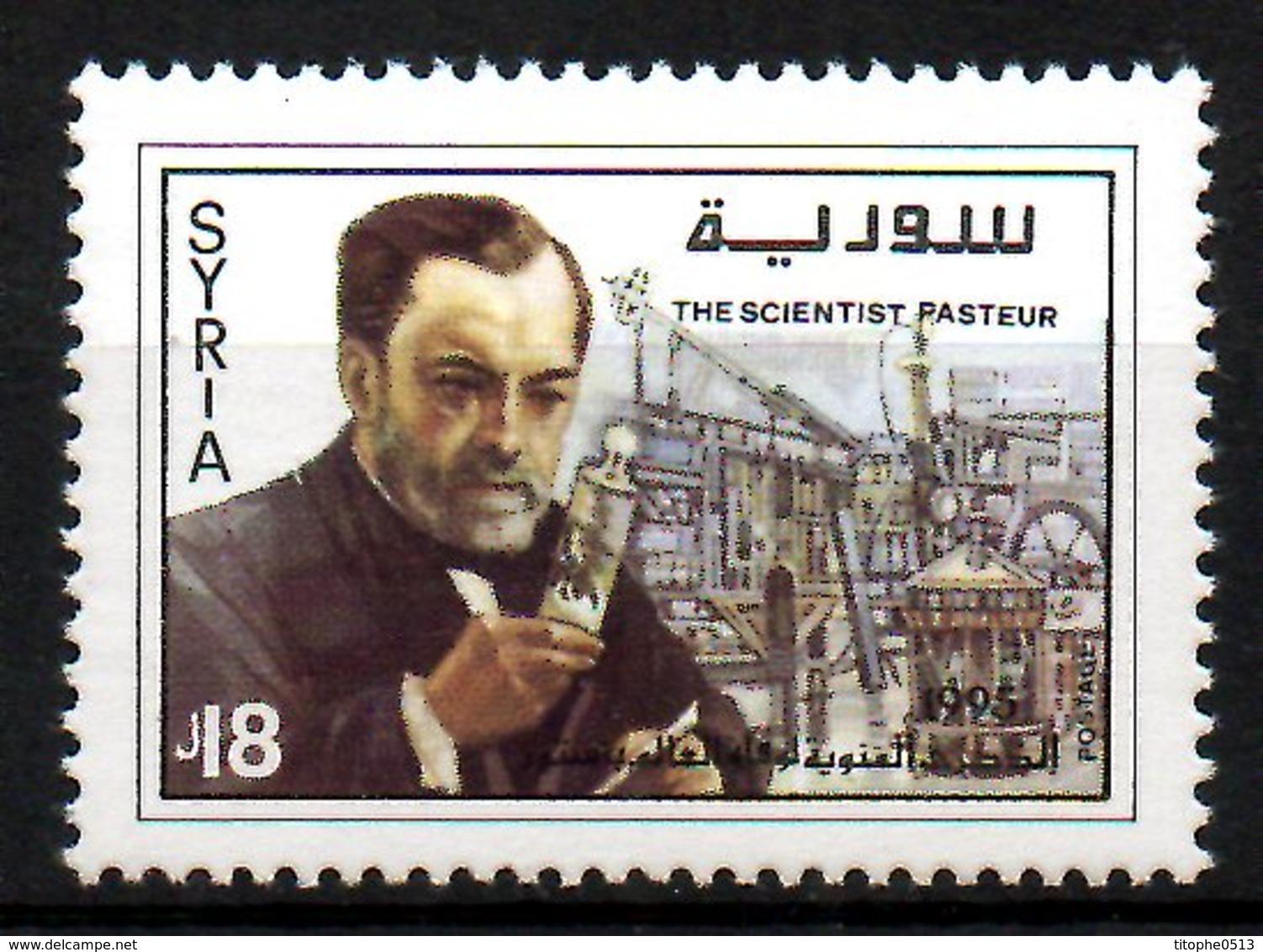 SYRIE. N°1054 De 1995. Pasteur. - Louis Pasteur