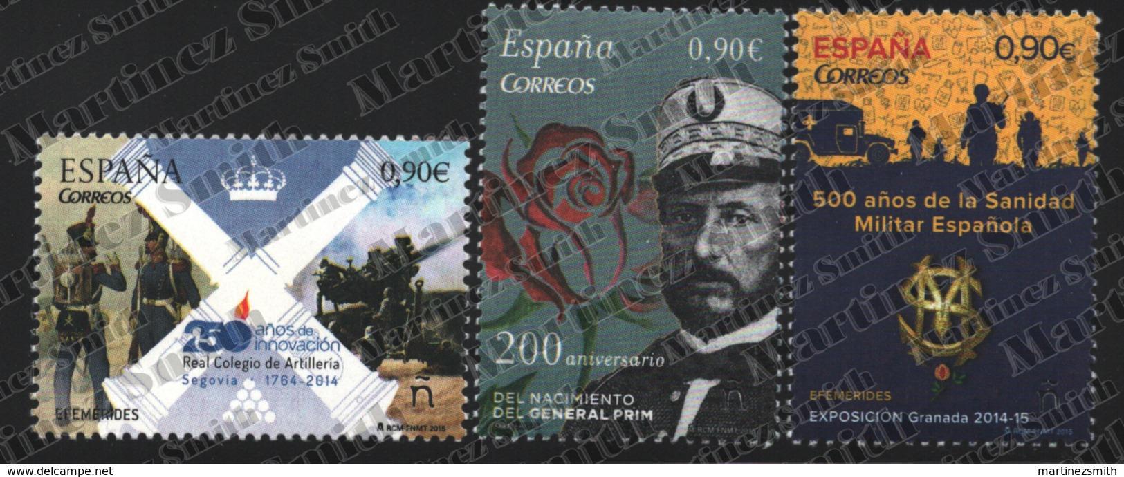 Spain - Espagne 2015 Yvert 4660-62, Ephemeris / Anniversaries, Military - MNH - 1931-Hoy: 2ª República - ... Juan Carlos I