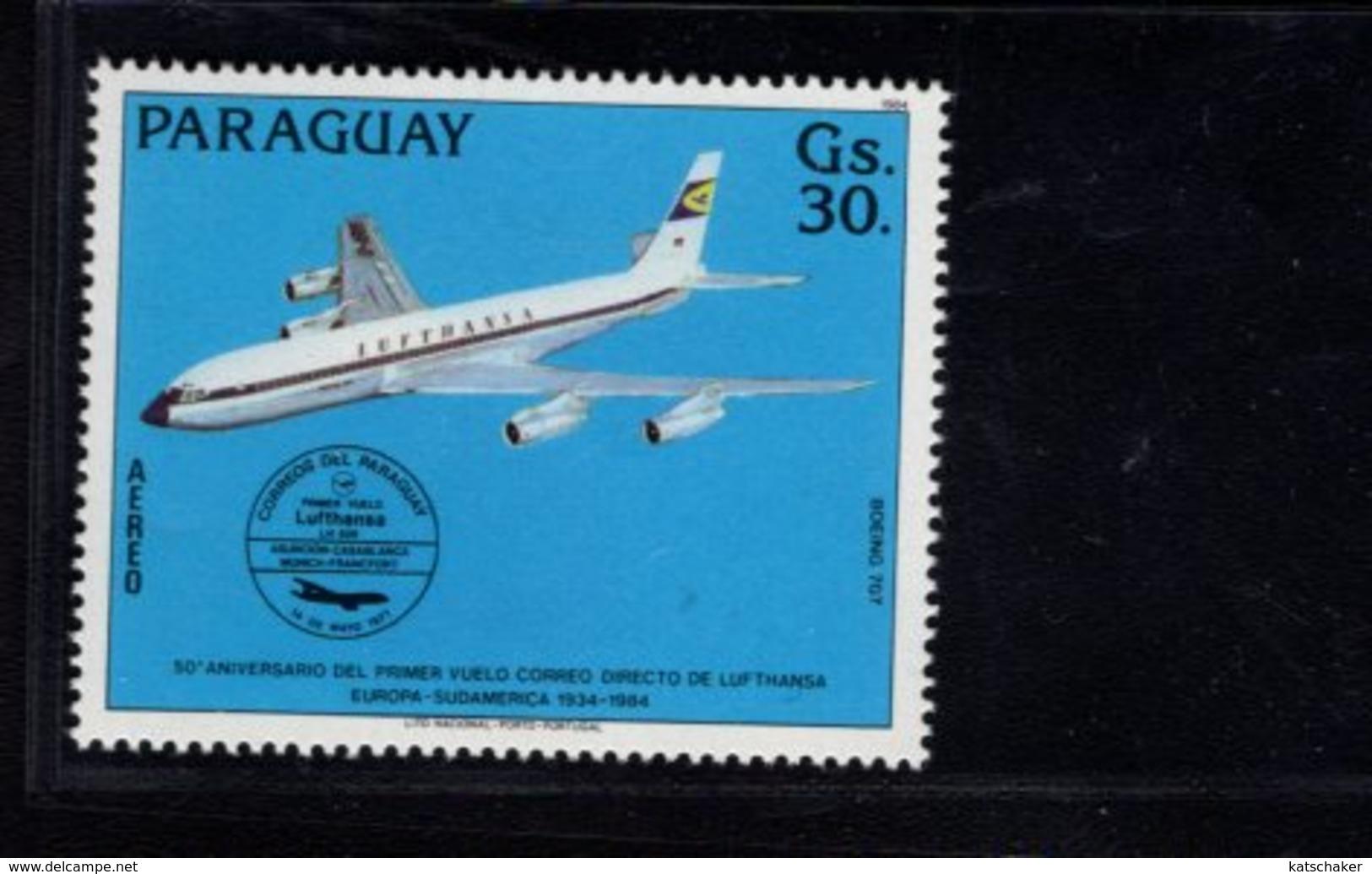 739915244 POSTFRIS MINT NEVER HINGED POSTFRISCH EINWANDFREI  SCOTT C573 AIRPLANE - Paraguay