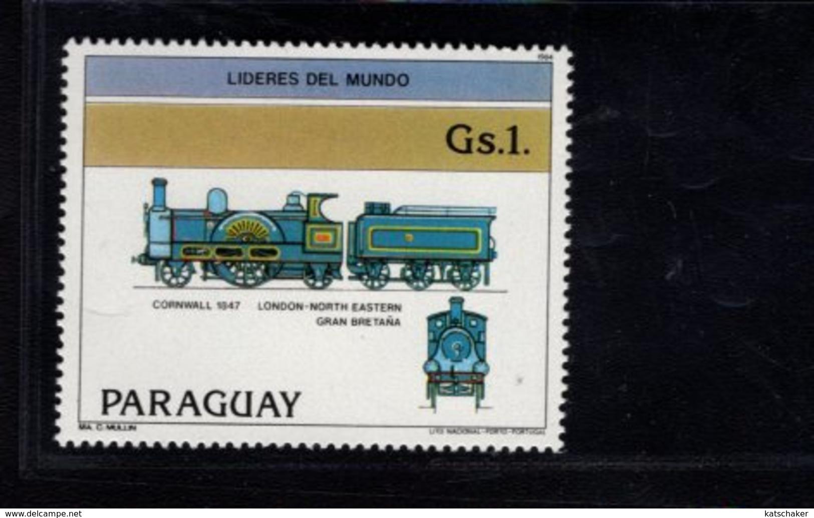 739916729 POSTFRIS MINT NEVER HINGED POSTFRISCH EINWANDFREI  SCOTT 2124A 2124F BRITISH LOCOMOTIVES - Paraguay