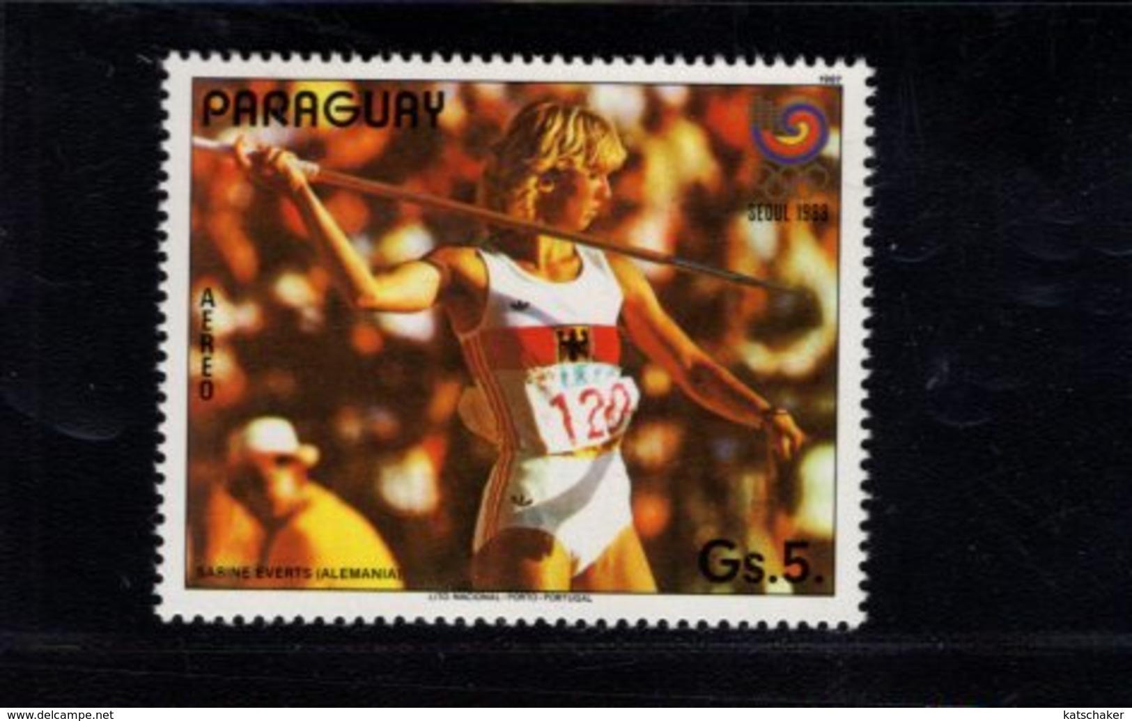 739917533 POSTFRIS MINT NEVER HINGED POSTFRISCH EINWANDFREI  SCOTT C687 C689 1988 SUMMER OLYMPICS SEOUL - Paraguay