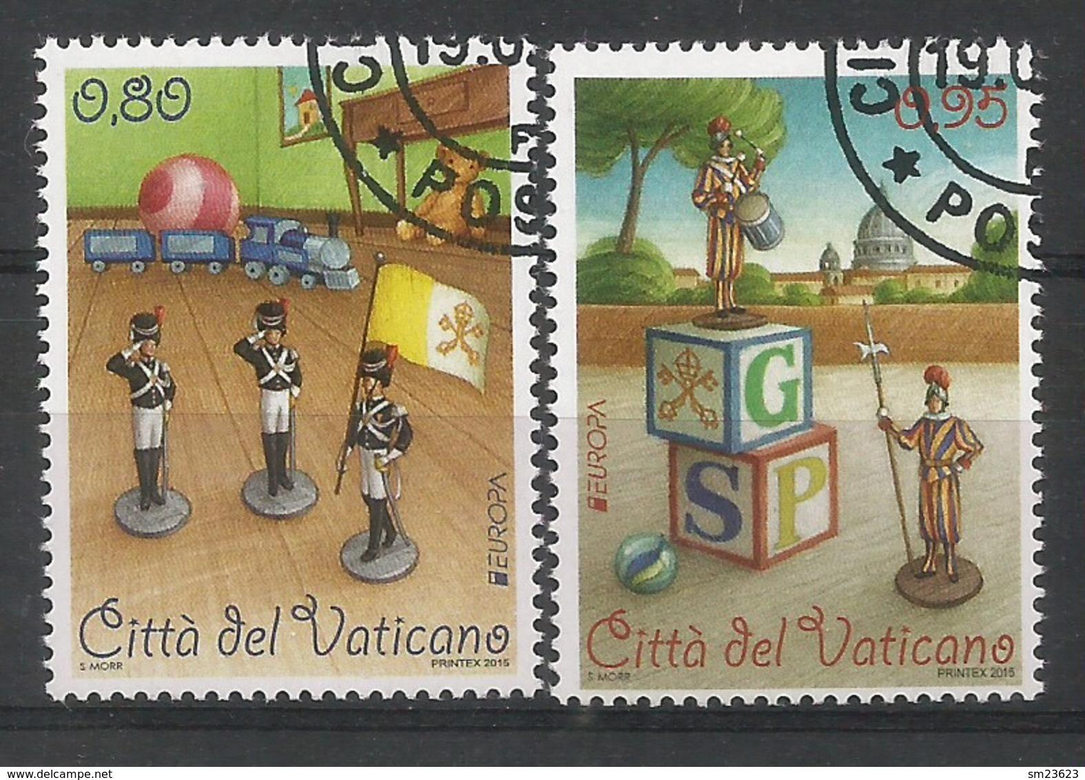Vatikanstadt  2015   Mi.Nr. 1834 / 1835 , EUROPA CEPT - Historisches Spielzeug - Gestempelt / Used / (o) - Europa-CEPT