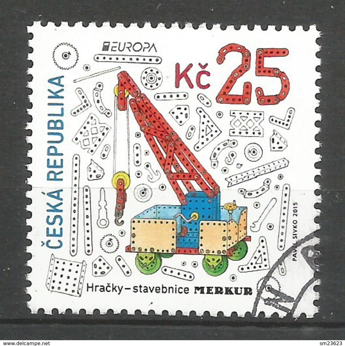 Tschechische Republik  2015   Mi.Nr. 846 , EUROPA CEPT - Historisches Spielzeug - Gestempelt / Used / (o) - 2015
