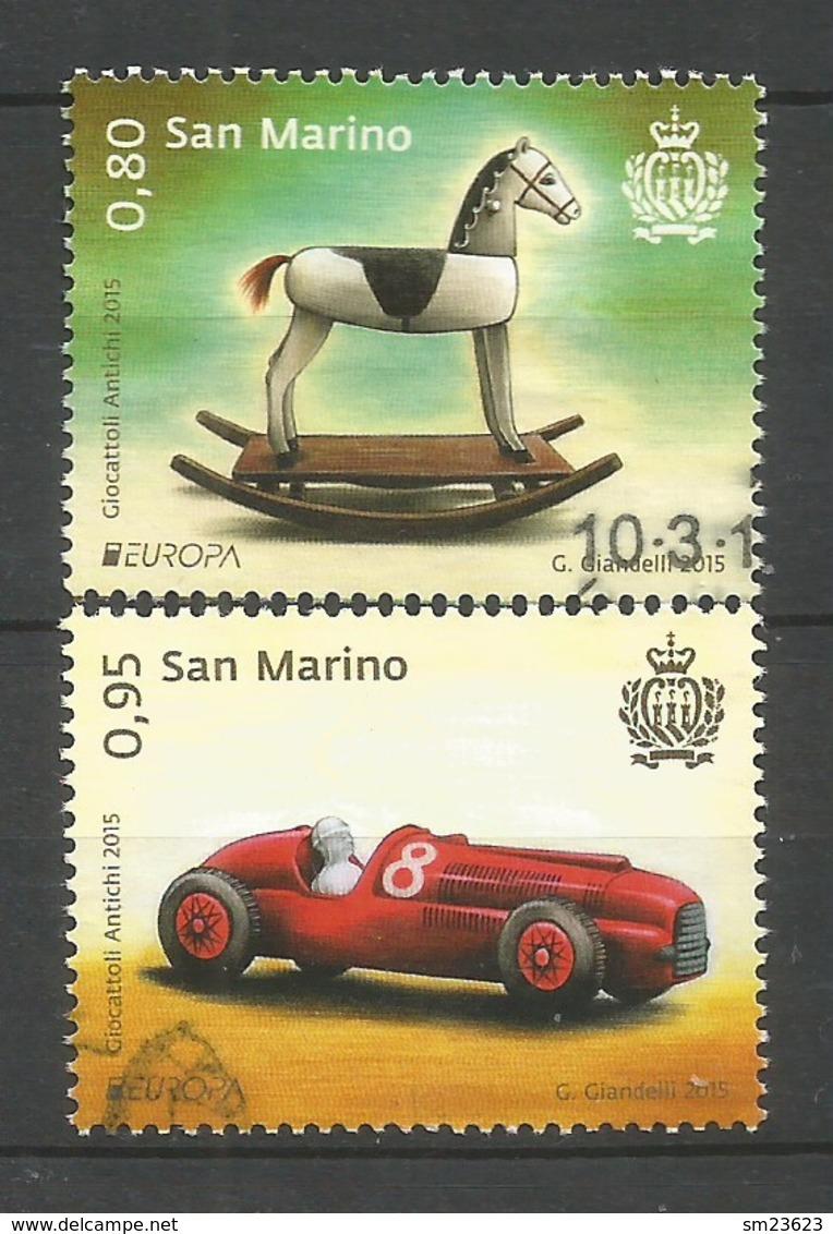 San Marino  2015  Mi.Nr. 2619 / 2620 , EUROPA CEPT - Historisches Spielzeug - Gestempelt / Used / (o) - 2015