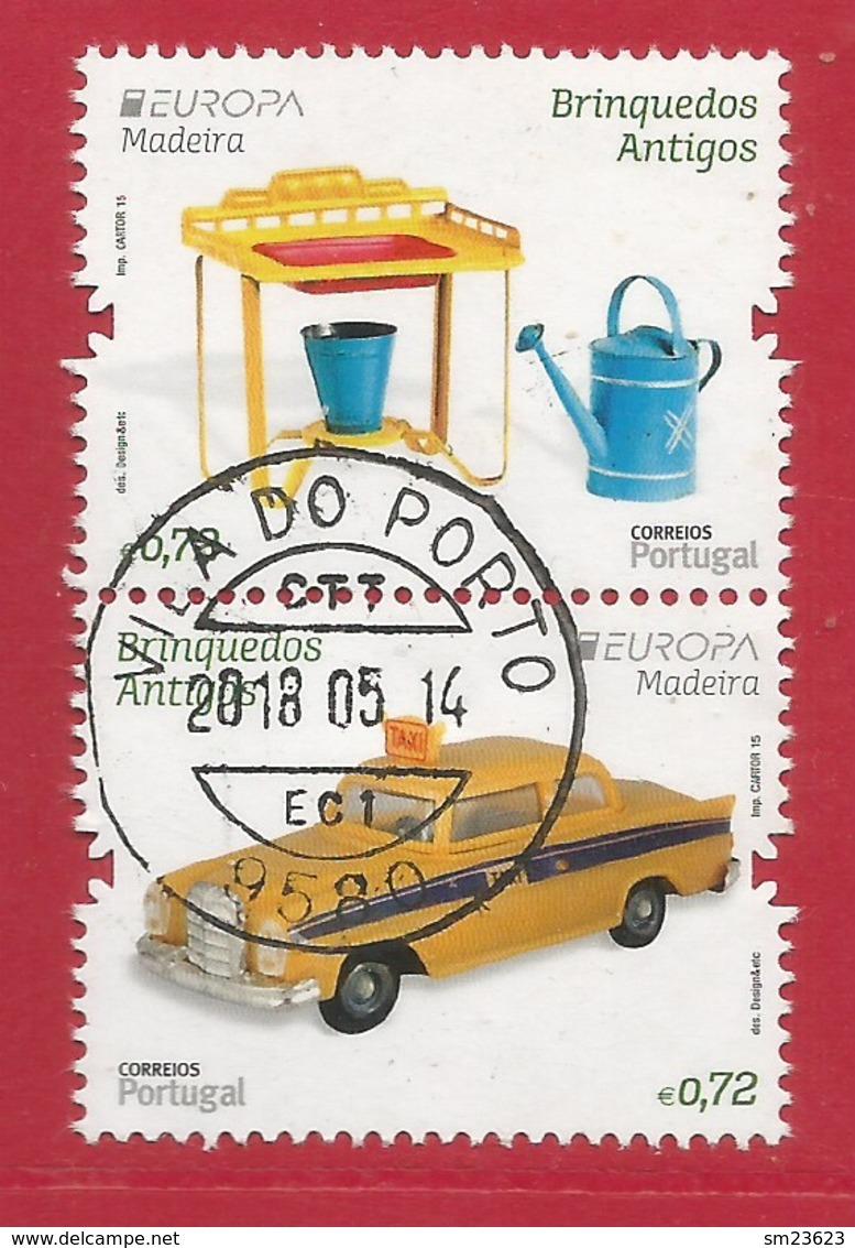 Portugal / Madeira   2015 Mi.Nr. 356 + 357 Aus Block 63 , EUROPA CEPT - Historisches Spielzeug - Gestempelt / Used / (o) - 2015