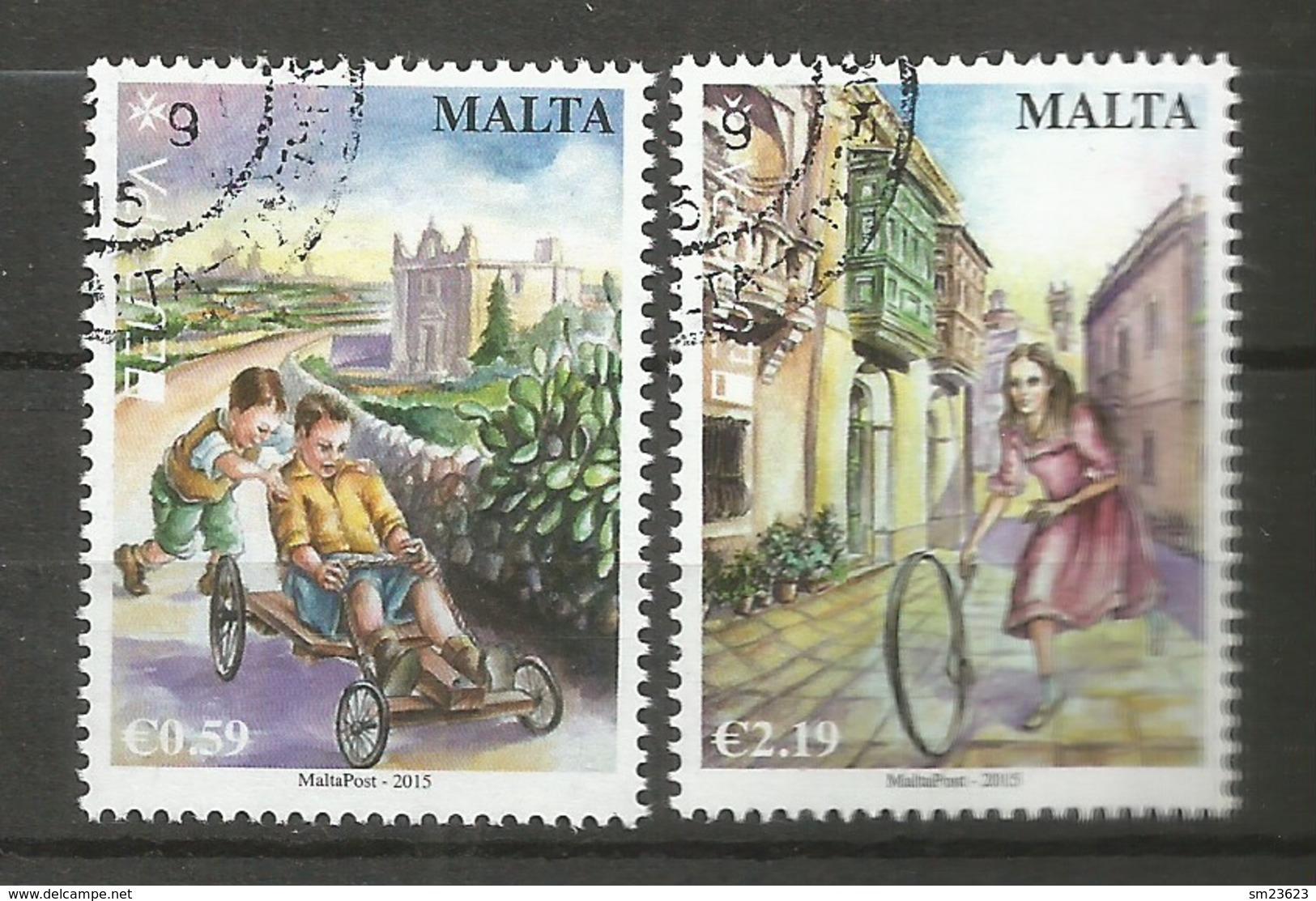 Malta  2015  Mi.Nr. 1903 / 1904 , EUROPA CEPT - Historisches Spielzeug - Gestempelt / Used / (o) - 2015