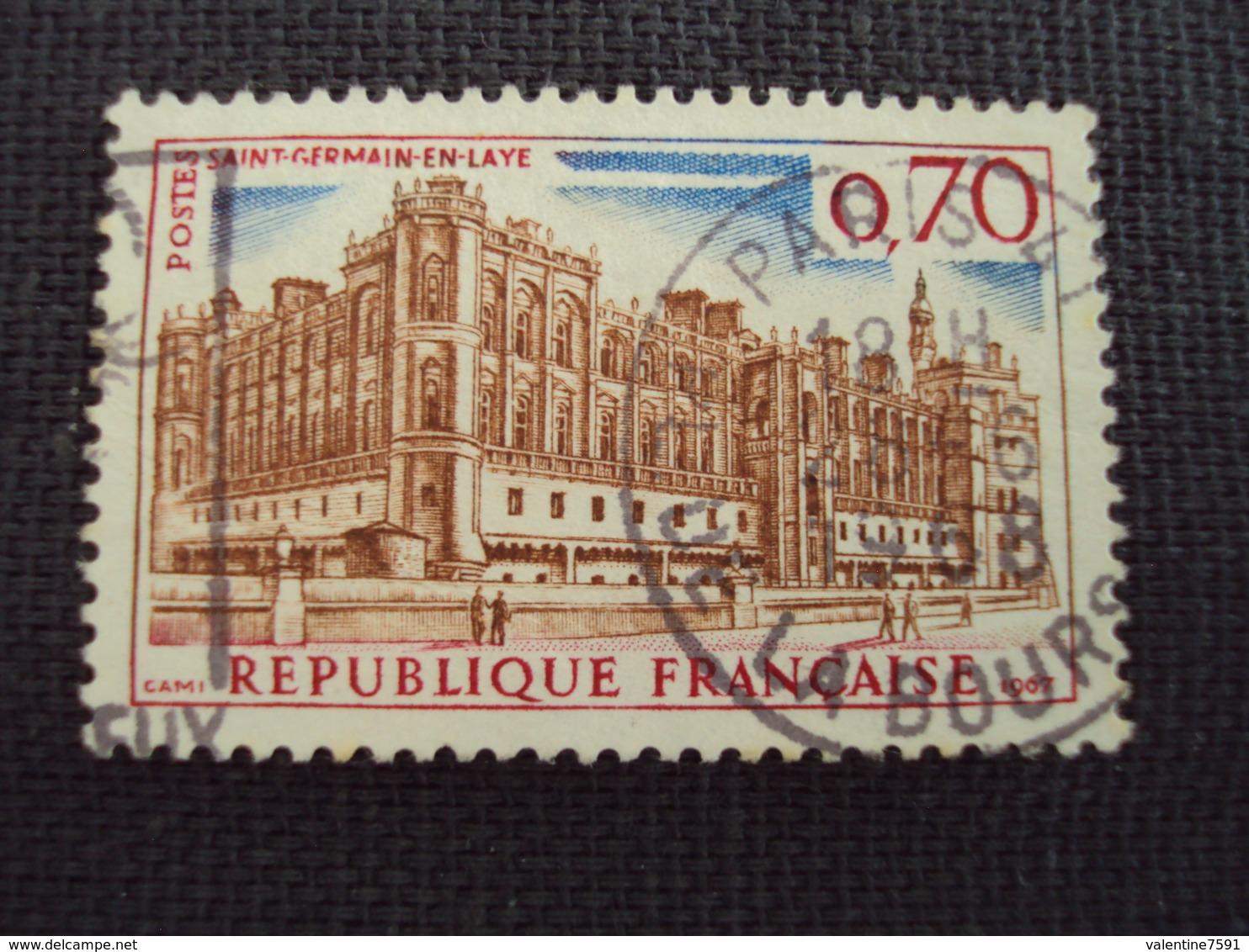 "60-69- Timbre Oblitéré N°1501    "" Chateau St Germain En Laye    ""  0.15 - France"
