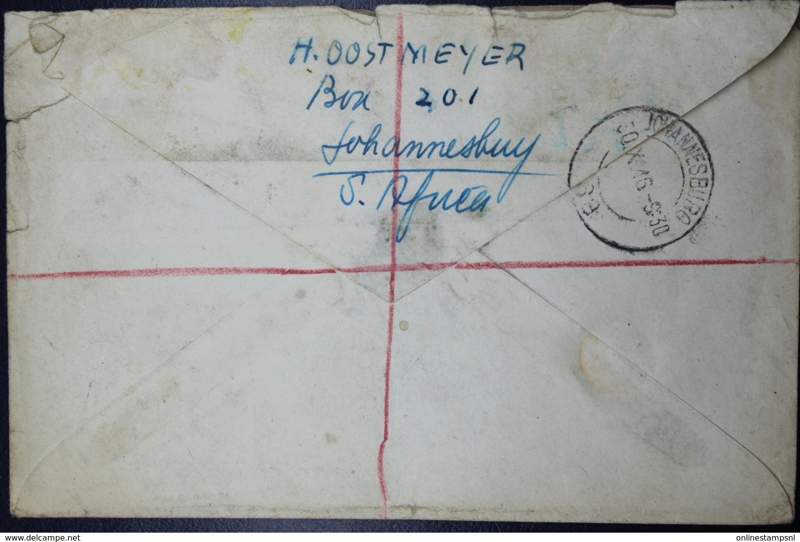 South Africa: Registered Cover Johannesburg -> Zaandijk  Holland  Sg 3 X Pair 1 X Advertisment Labels - Zuid-Afrika (...-1961)
