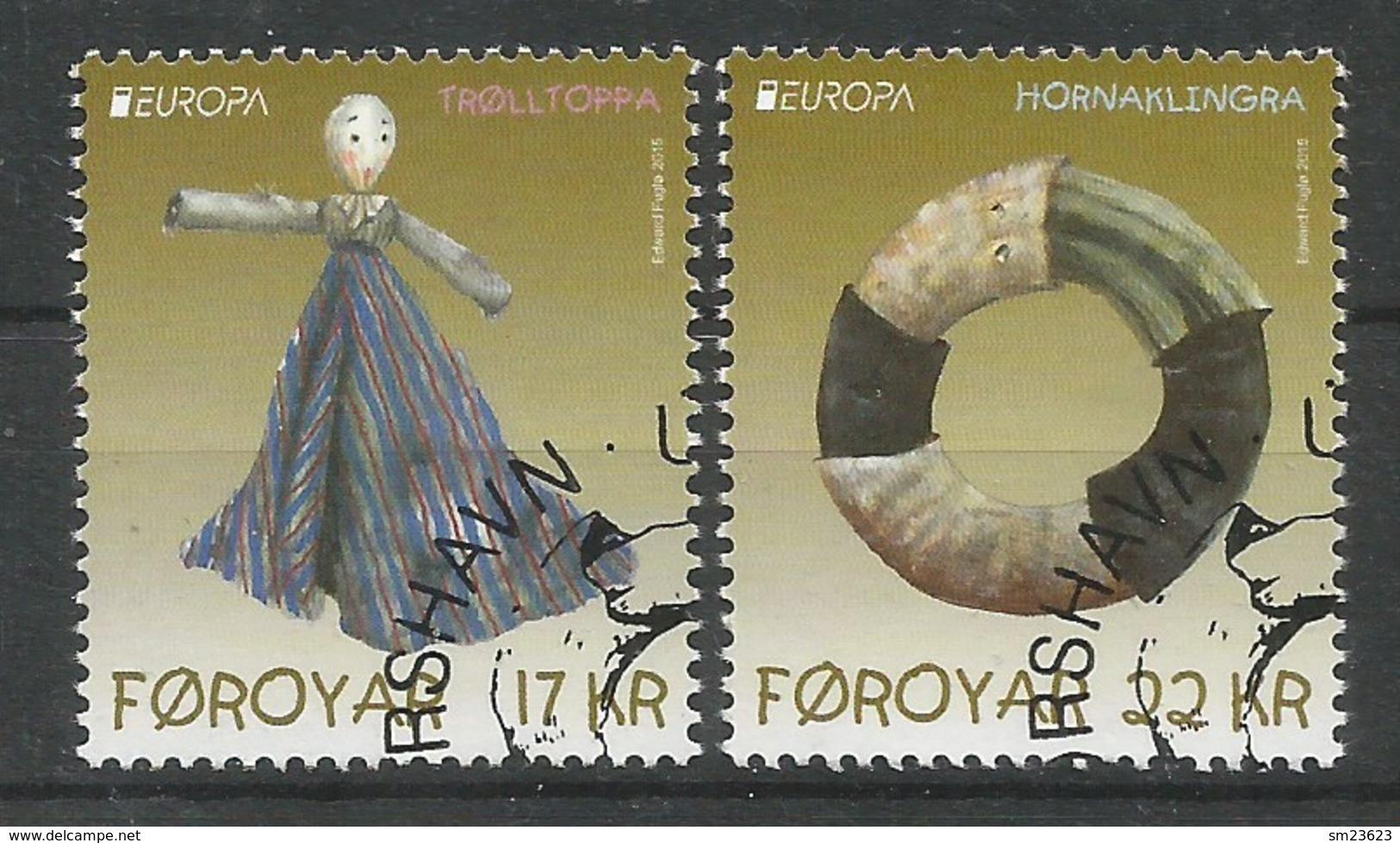 Dänemark-Färöer   2015   Mi.Nr. 836 / 837 , EUROPA CEPT - Historisches Spielzeug - Gestempelt / Used / (o) - Europa-CEPT