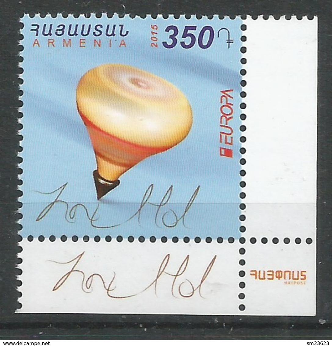 Armenien  2015   Mi.Nr. 955 , EUROPA CEPT - Historisches Spielzeug  - Postfrisch / MNH / (**) - Europa-CEPT