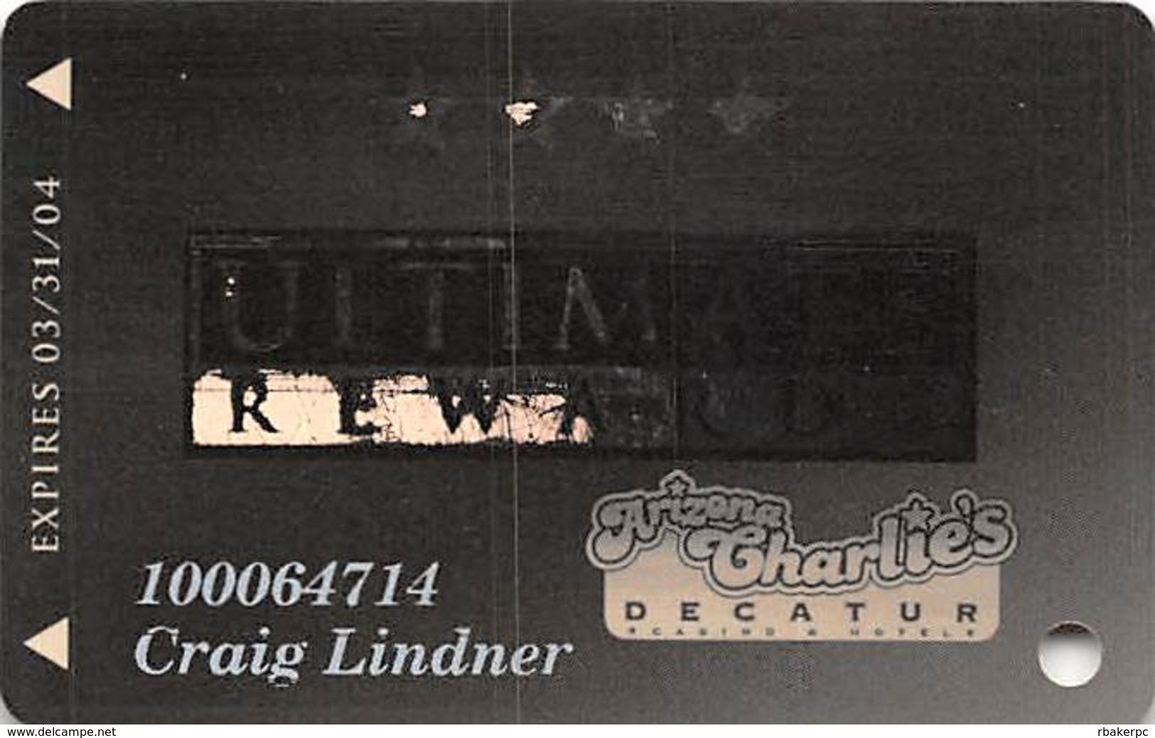 Arizona Charlie's West/Decatur Casino Las Vegas, NV - Slot Card - Casino Cards