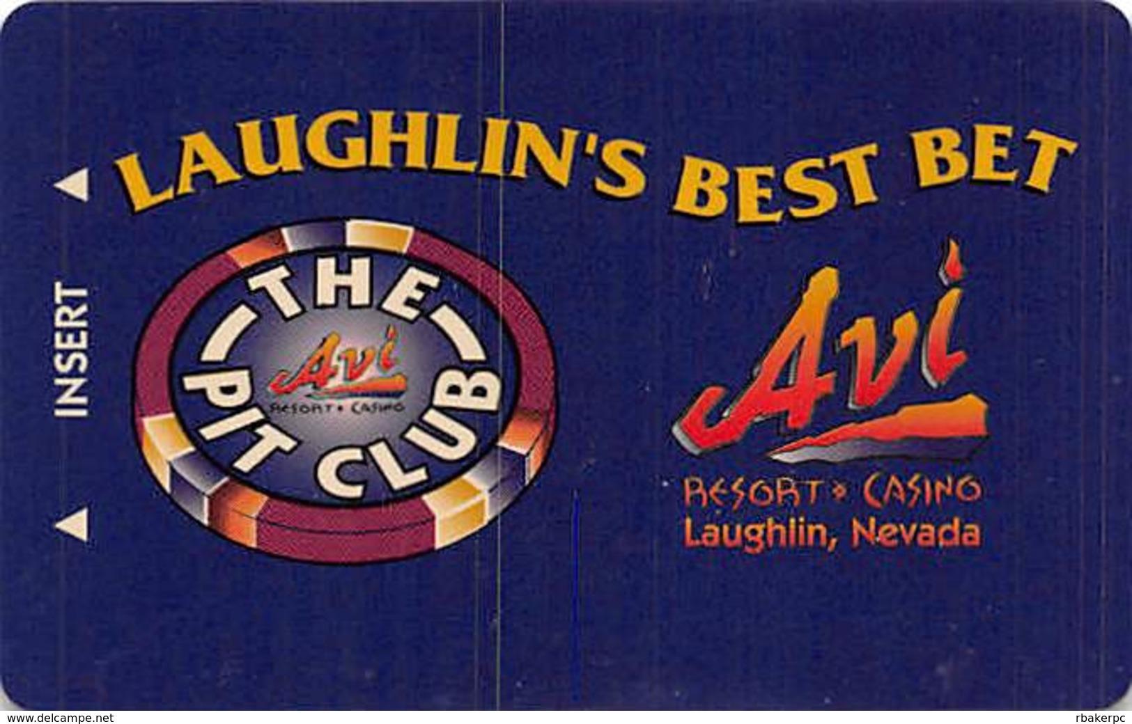 AVI Resort & Casino Laughlin, NV - The Pit Club Slot Card (BLANK) - Casino Cards
