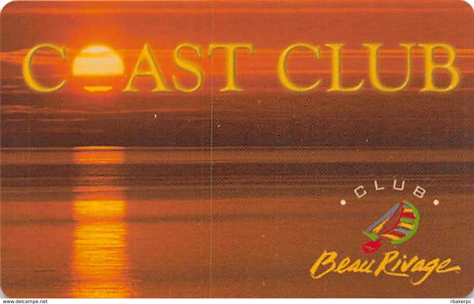 Beau Rivage Casino - Biloxi MS - BLANK Coast Club Slot Card For Locals - Casino Cards