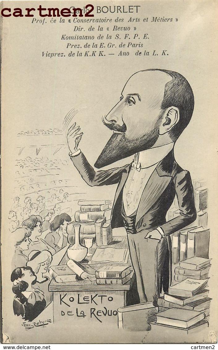ILLUSTRATEUR JEAN ROBERT ESPERANTO CARICATURE SATIRIQUE CARLO BOURLET CONGRES ESPERANTISTE - Esperanto