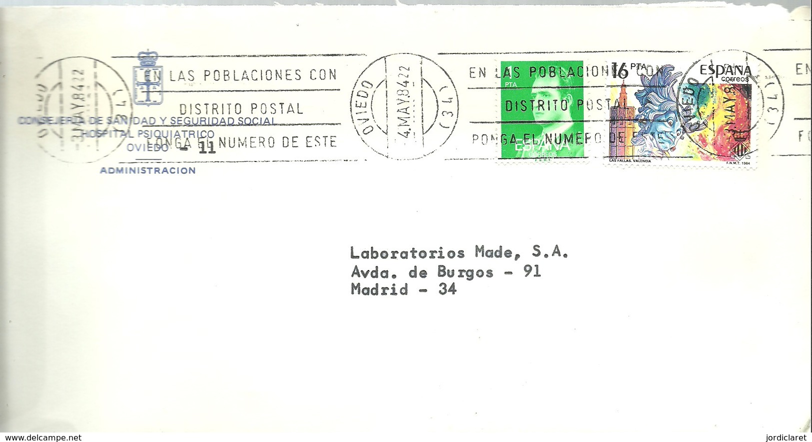 MATASELLOS 1984  OVIEDO - 1931-Hoy: 2ª República - ... Juan Carlos I
