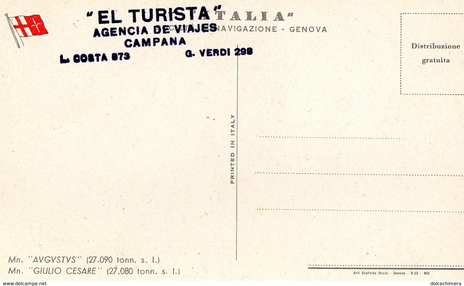NAVE ITALIA-AGENZIA EL TURISTA - Altri