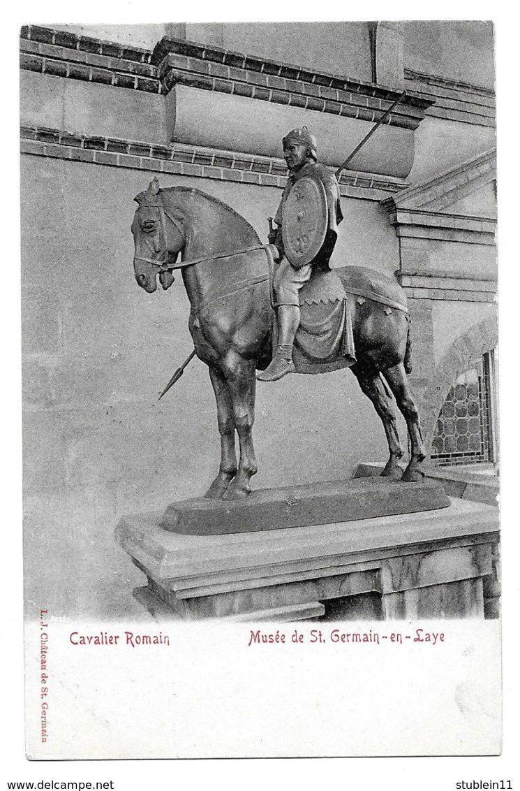 Saint-Germain-en-Laye (Yvelines)  Musée, Chef Gaulois + Cavalier Romain    LES 2 CARTES - St. Germain En Laye