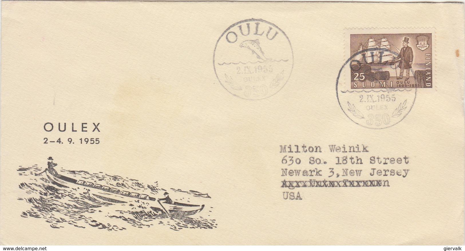 FINLAND 1955 FDC Oulex.BARGAIN.!! - Finlande