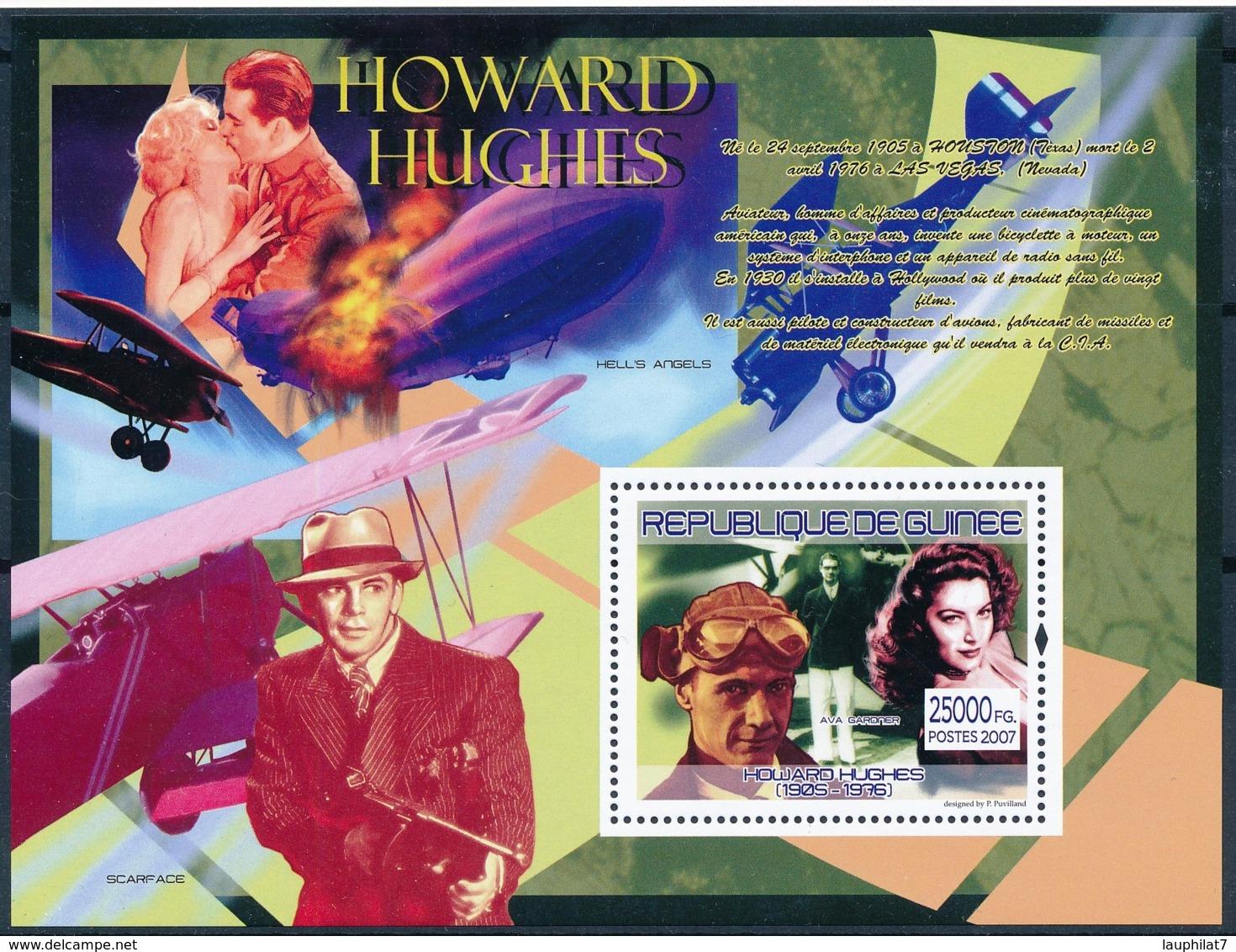 [401995]Guinée 2007 - Howard Hughes, Avions, Ava Gardner - Militaria