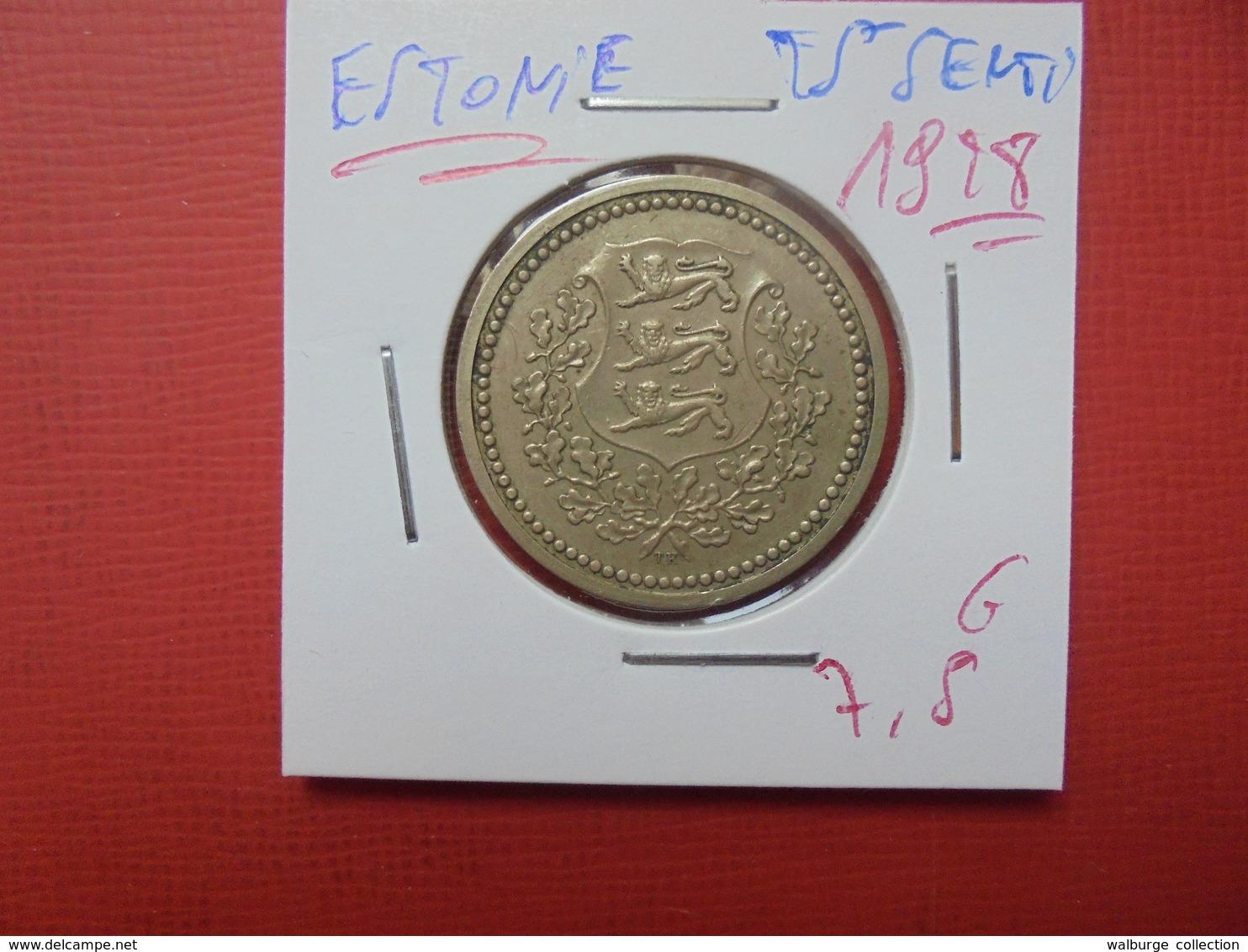 ESTONIE 25 SENTI 1928 - Estonia