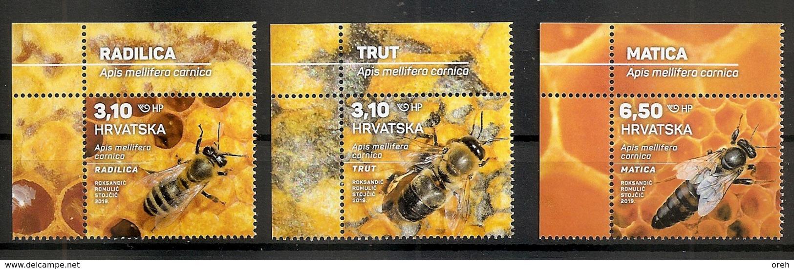 CROATIA 2019,FAUNA,BEES,INSECTS,HONEY,APIS,MNH - Abeilles