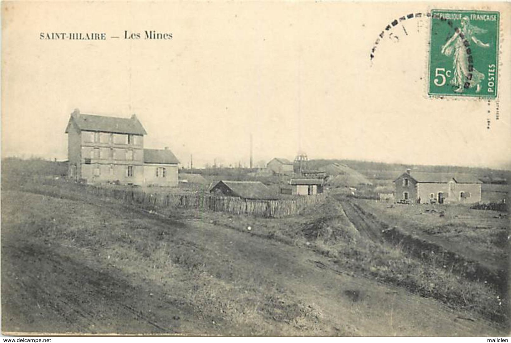 -dpts Div.-ref-AH190- Allier - Saint Hilaire - St Hilaire -les Mines - Mine - Puits - Metiers - Ligne De Chemin De Fer - - France