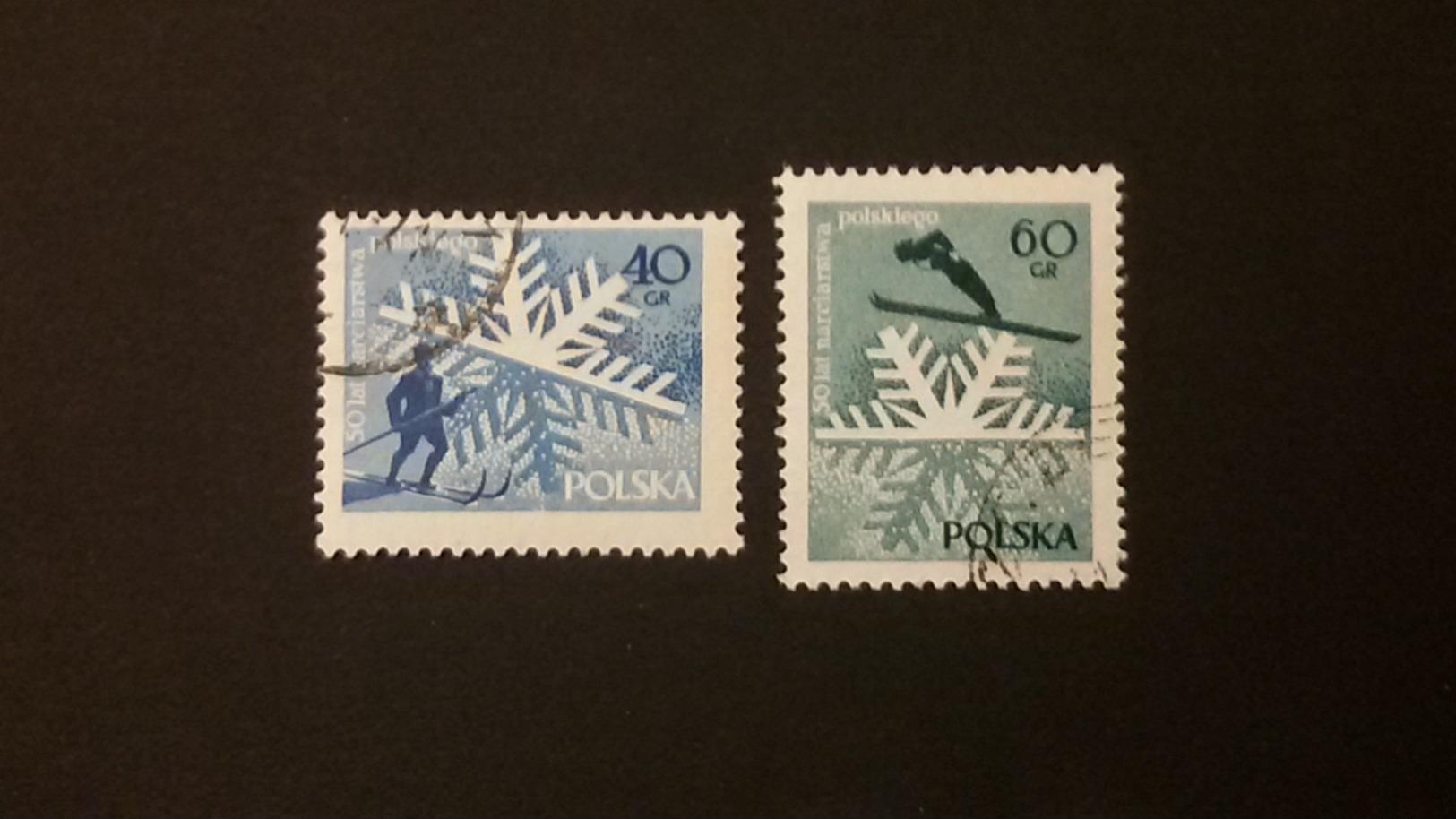 Polen  1956, 1957    9. Int. Friedensfahrt- Wandern-50 Jahre Skisport - Gebraucht