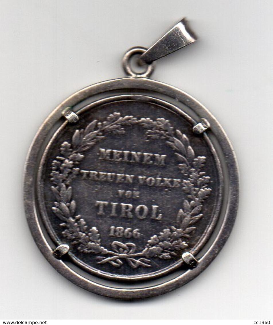 Austria - 1866 - Meinem Treuen Volke Von Tirol - Francesco Giuseppe I° -  Medaglia Con Ciondolo - Vedi Foto - (FDC6238) - Gettoni E Medaglie