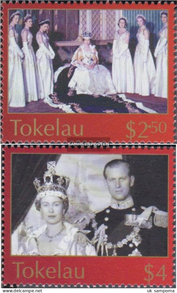 Tokelau 335-336 (complete Issue) Unmounted Mint / Never Hinged 2003 Coronation Queen Elizabeth II. - Tokelau