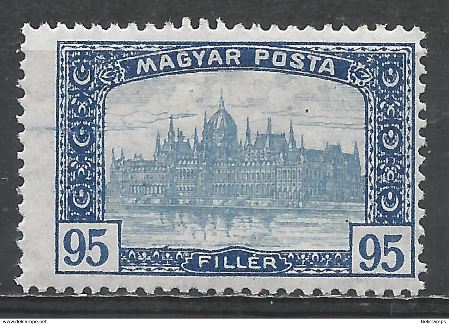 Hungary 1919. Scott #189 (M) Parliament Building At Budapest * - Hongrie
