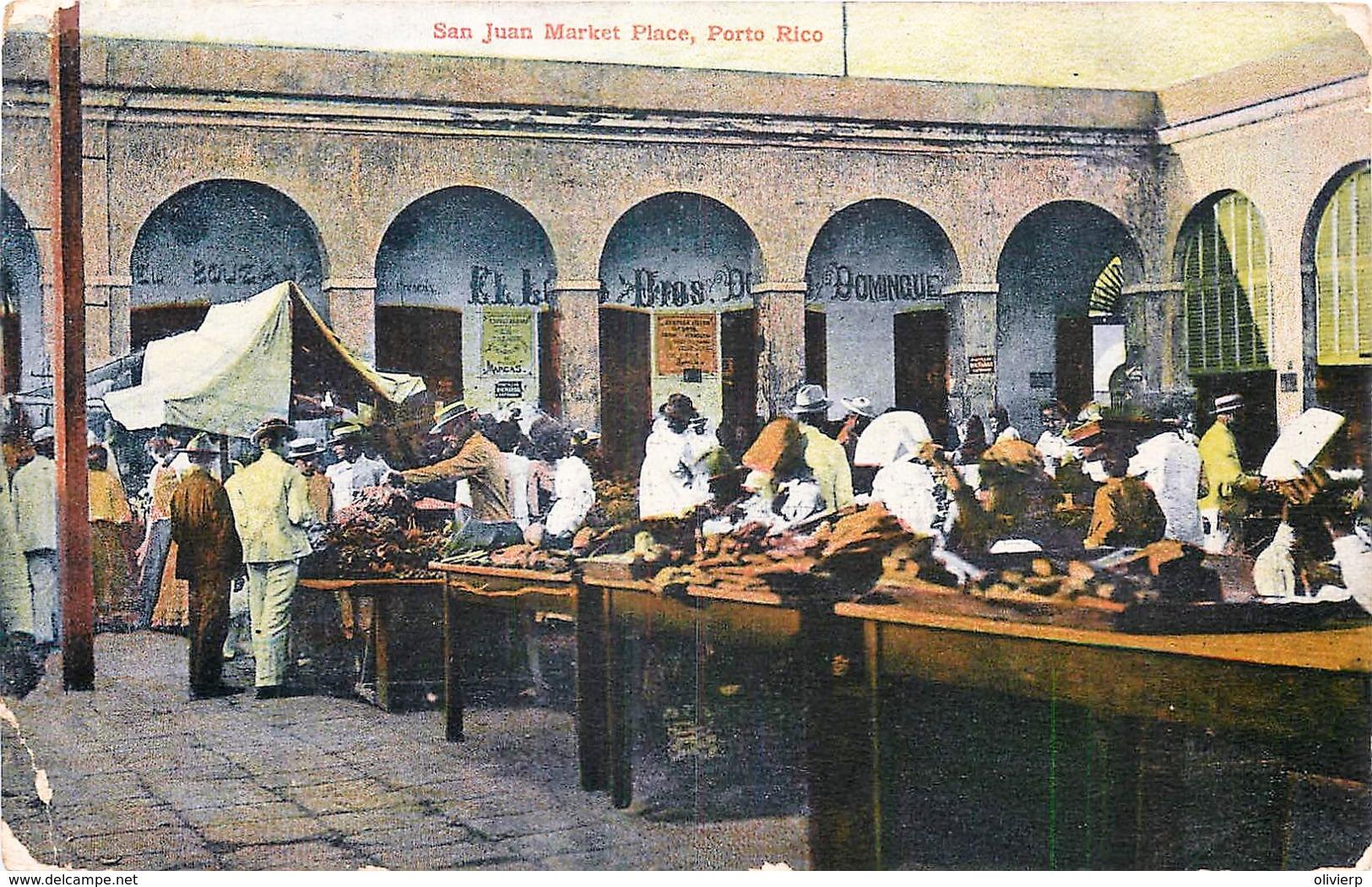 Porto Rico - San Juan - Market Place - Envoi Vers Tien-Tsin Chine Voir Verso - Puerto Rico
