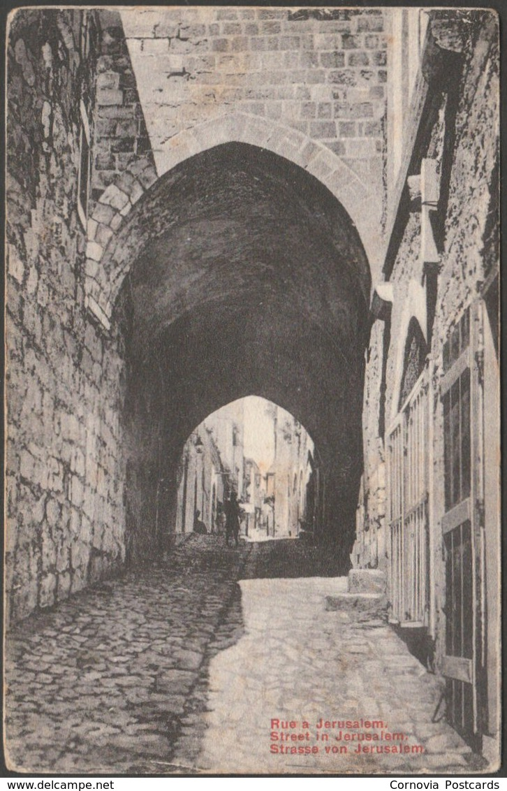 Rue A Jerusalem, C.1905 - ECB CPA - Palästina