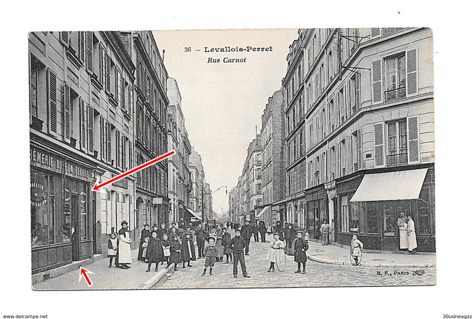 CPA  92 Levallois Perret Rue Carnot  Cremerie Du Bon Beurre Photo 1 Vente Uniquement Cpa Cremerie - Levallois Perret