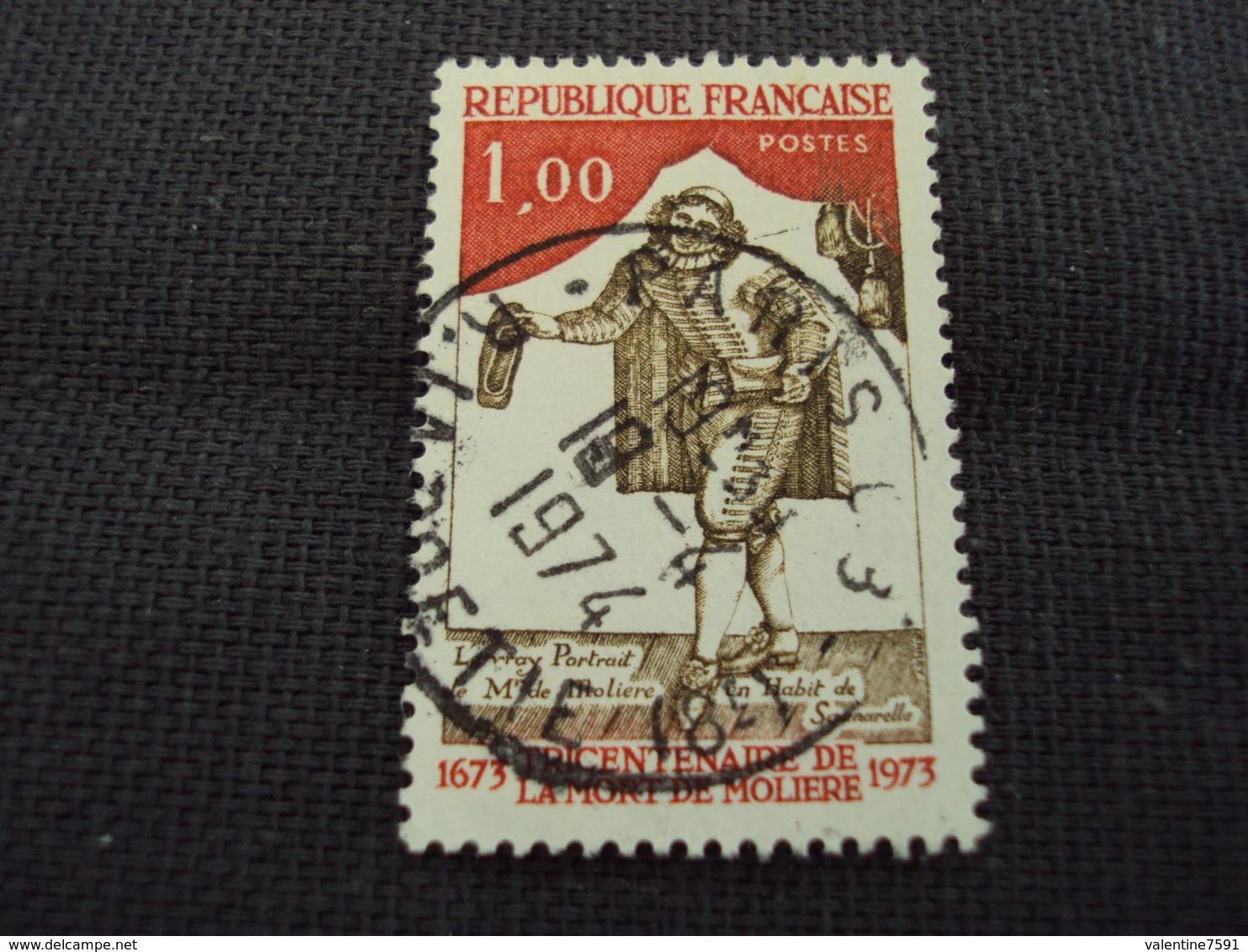 """70-79- Timbre Oblitéré N°  1771  """" 300 Ans Mort De Molière  """"   0.50 - France"""