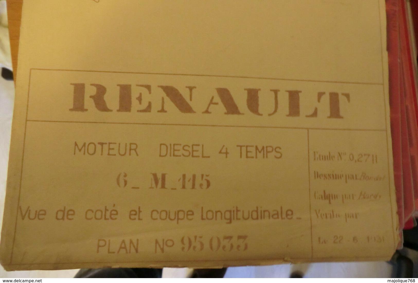 15 Plants De Moteurs Diesel Pour Yacht Pour Mr Renault-Billancourt 1930/31. - Machines