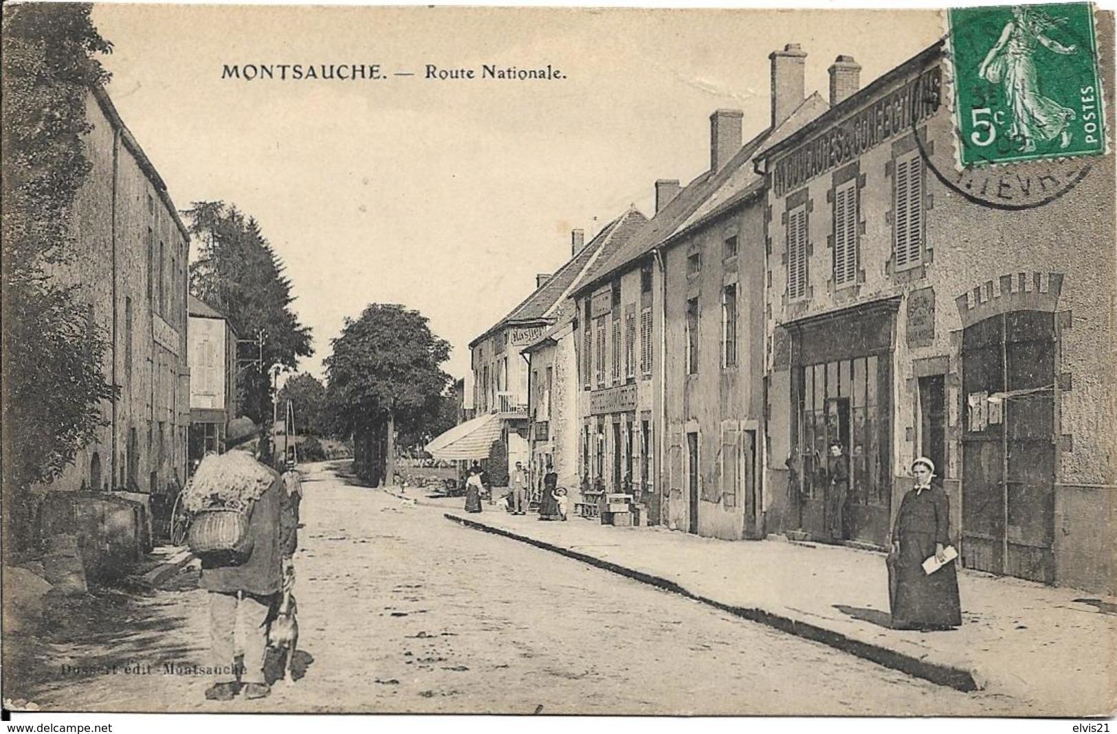 MONTSAUCHE LES SETTONS Route Nationale - Montsauche Les Settons