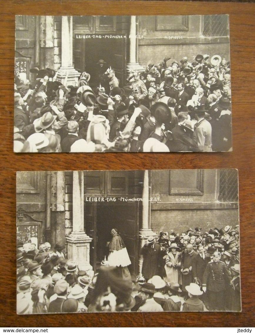 2stuks Oude Postkaarten LEIBER - TAG      H. SPIESSL   DUITSLAND - Muenchen