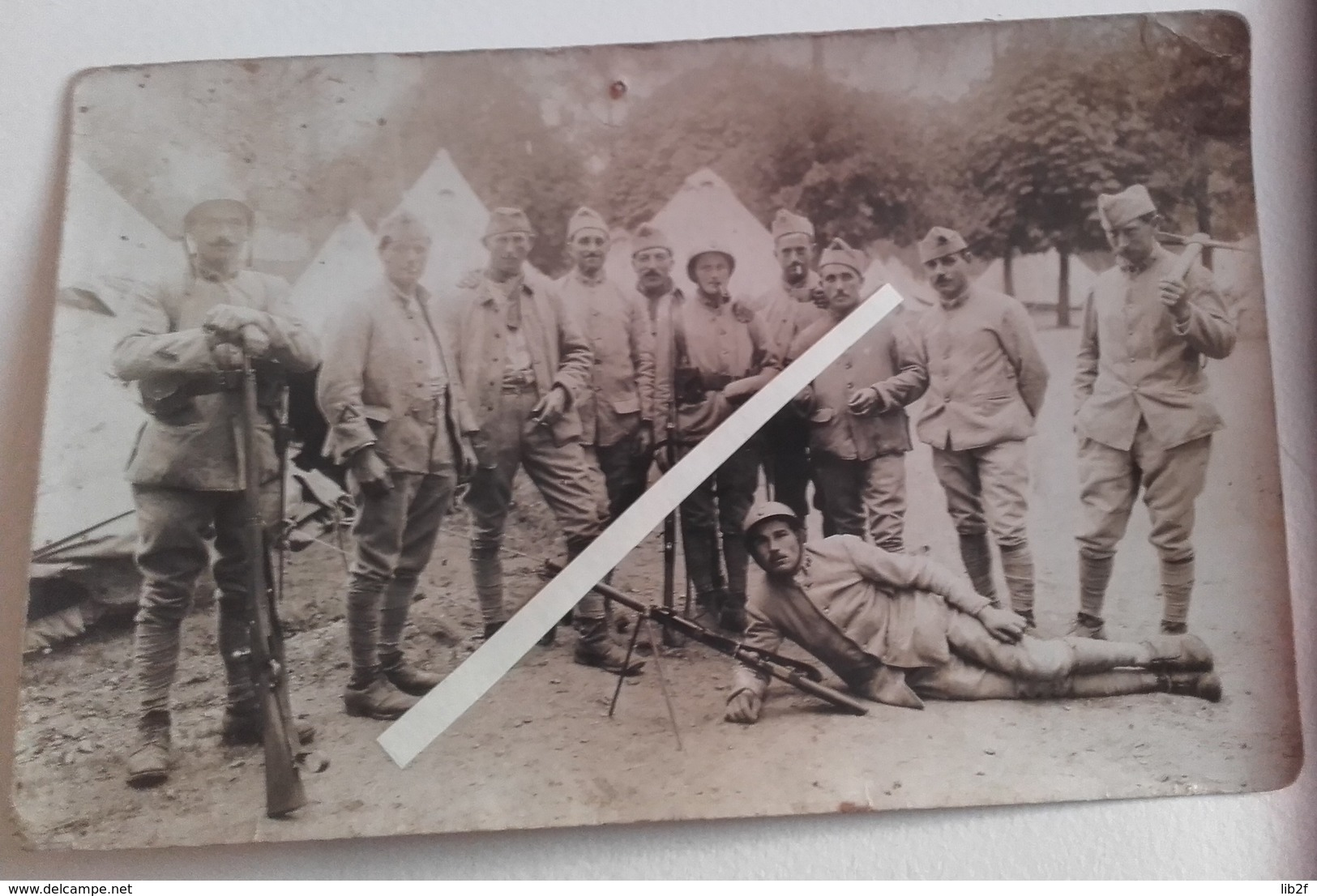 1917 1918 Infanterie 46 Eme Régiment Groupe De Combat Fm Chauchat Berthier 07/15 Tranchée Poilus 1914 1918 WW1 - War, Military