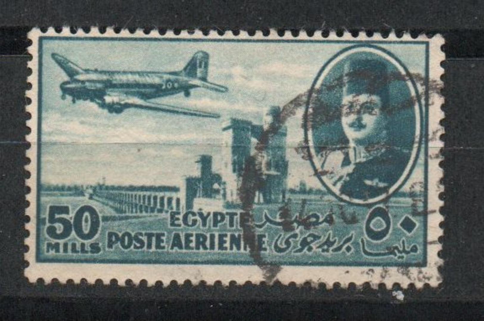 Egypt. 1947. King Farouk Delta Dam And DC-3 Plane - Egipto