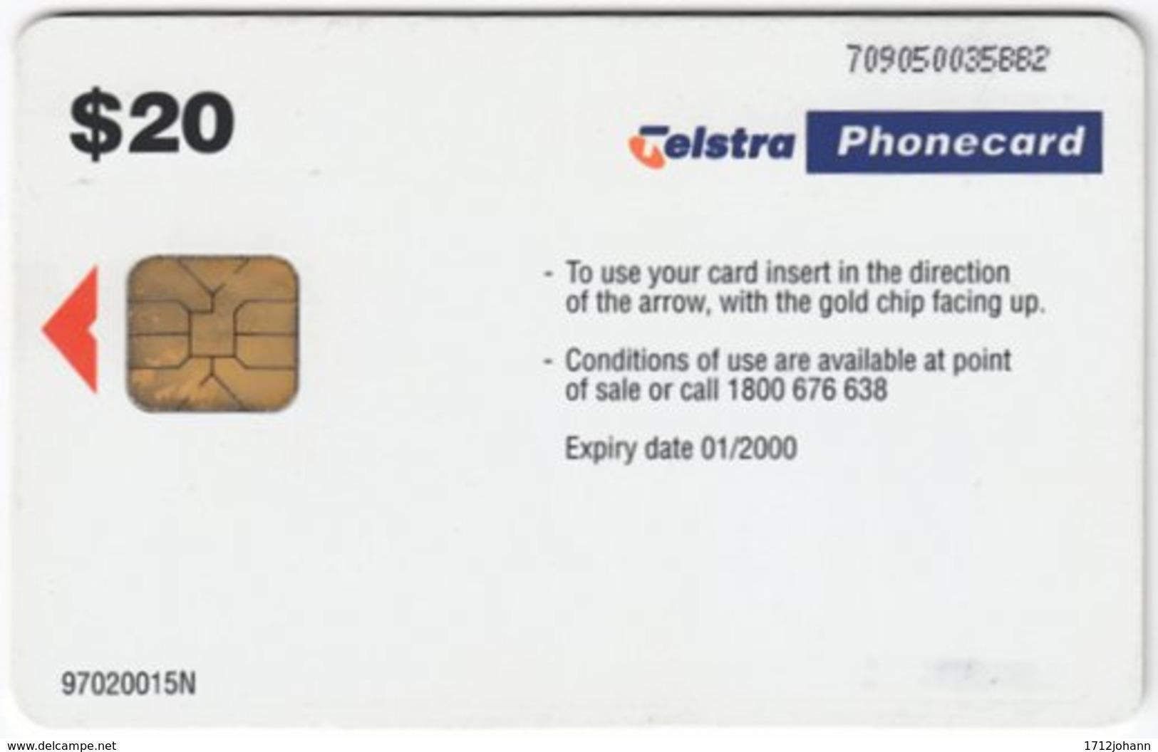 AUSTRALIA B-527 Chip Telstra - Used - Australie