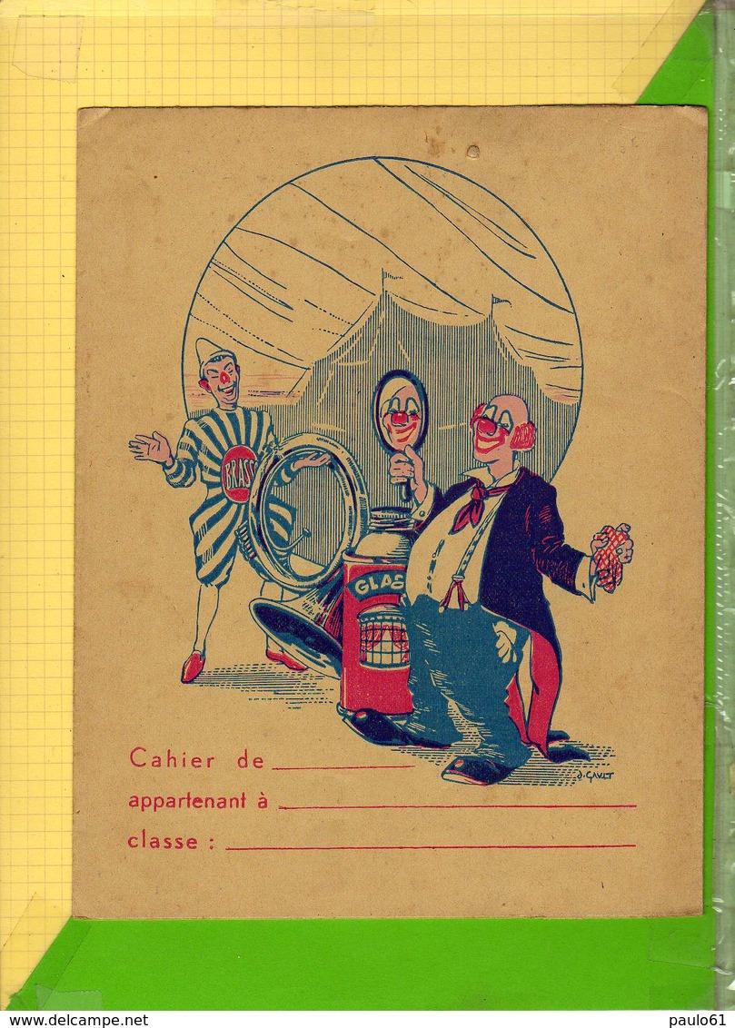 POTEGE CAHIER  : Produit Glassex Brasso Cirque Le Clown - Protège-cahiers