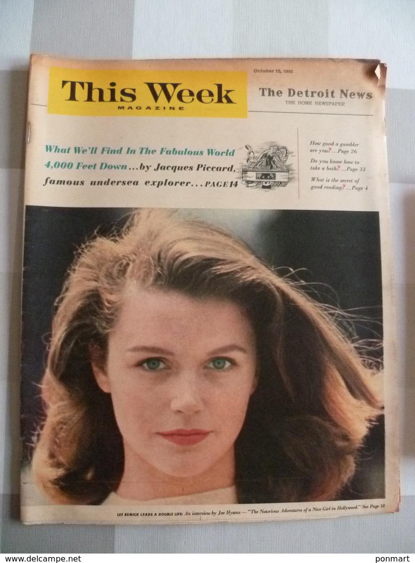 This Week Magazine  , The Detroit News  Octobre 1961 - Nouvelles/ Affaires Courantes